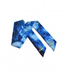 Scarf Marble: Blue