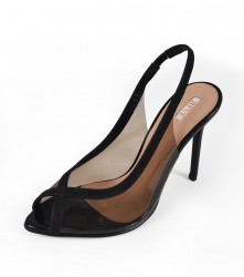 Heels: Clear Cross - Black