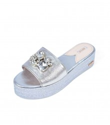 Wedge: Crystal - Silver